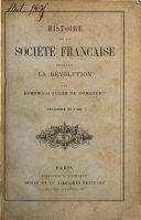 Pdf Histoire de la société française pendant le directoire