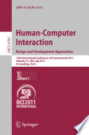 Human Computer Interaction  Design and Development Approaches Book
