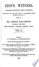Zion's witness, ed. by A. Wilcockson Pdf/ePub eBook
