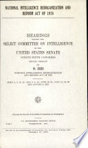 National Intelligence Reorganization And Reform Act Of 1978