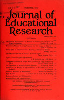 The journal of educational research