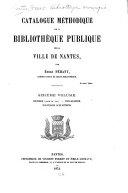 Catalogue méthodique de la Bibliothèque Publique de la Ville de Nantes: id. (fin) Polygraphie