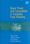 Buyer Power and Competition in European Food Retailing