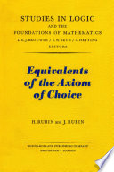 Equivalents of the Axiom of Choice