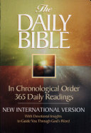The DAILY BIBLE IN CHRONOLOGICAL ORDER 365 DAILY READINGS