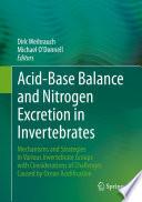 Acid Base Balance and Nitrogen Excretion in Invertebrates