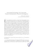 Universidad de Santiago de Compostela. Fuentes documentales y líneas de investigación