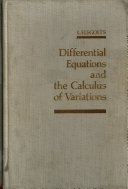 Differential Equations and the Calculus of Variations Book
