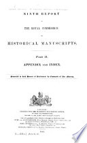 Ninth Report of the Royal Commission on Historical Manuscripts