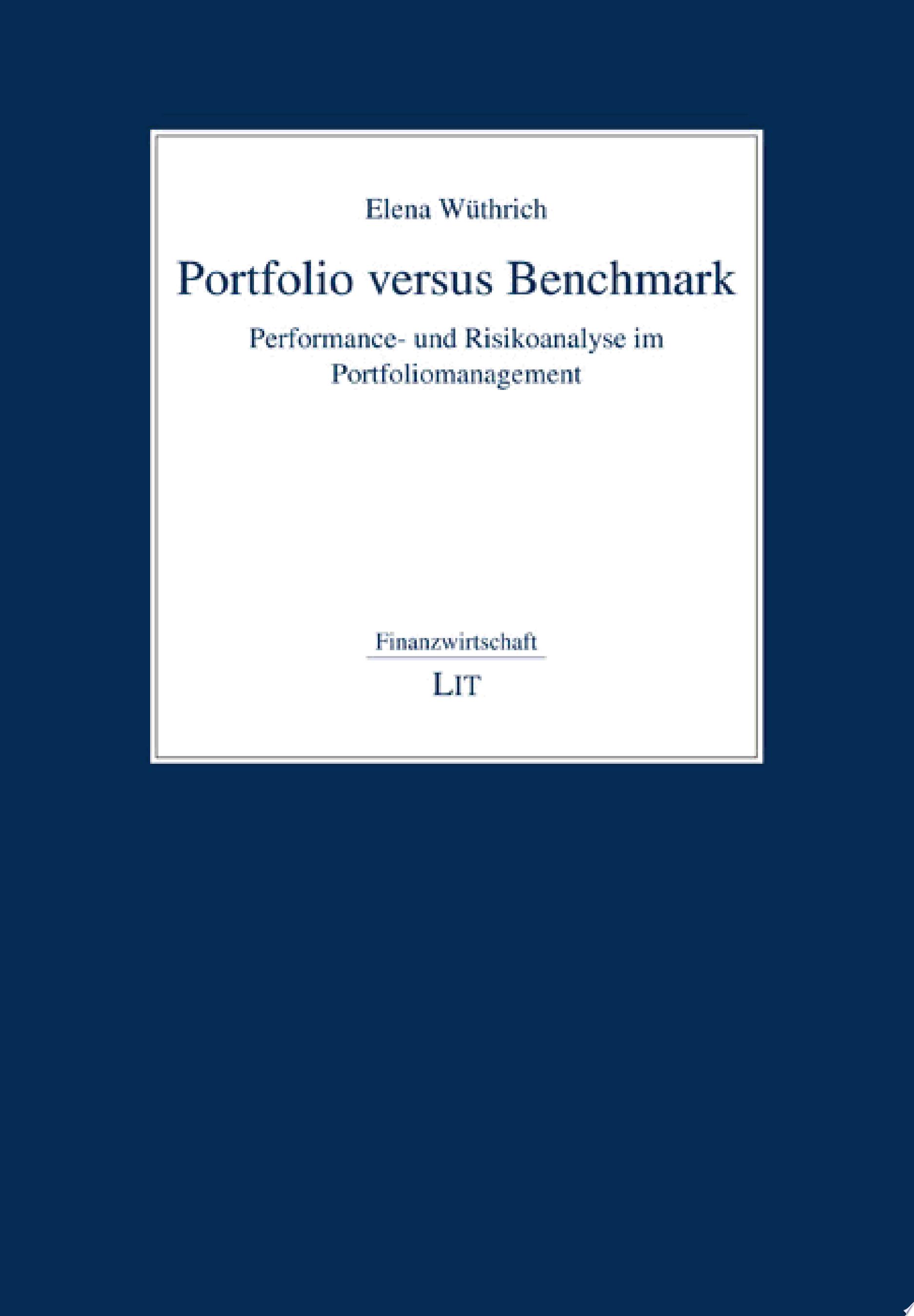 Portfolio versus Benchmark