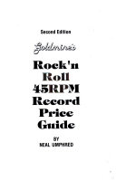 Goldmine s Rock n Roll 45rpm Record Price Guide