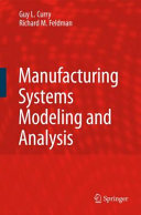 Pdf Manufacturing Systems Modeling and Analysis