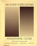 Weather Forecasting   Atmospheric Ozone Book