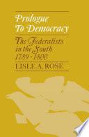 Prologue to Democracy Book