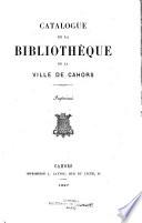 Catalogue de la Bibliothèque de la ville de Cahors, imprimʹes
