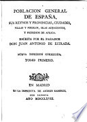 Poblacion general de Espana...