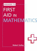 Books - Answers To First Aid In Mathematics | ISBN 9781444121803