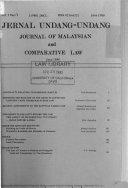Journal Of Undang Undang