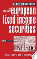 The Handbook Of European Fixed Income Securities Book PDF