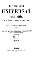 Diccionario universal francés-español [-español-francés]