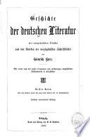 Geschichte der deutschen Literatur0