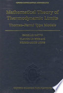 The Mathematical Theory of Thermodynamic Limits Book