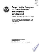 Report To The Congress On Ocean Pollution Monitoring And Research