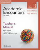 Academic Encounters Level 3 Teacher s Manual Listening and Speaking