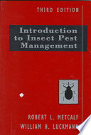 """Introduction to Insect Pest Management"" by Robert L. Metcalf, William H. Luckmann"