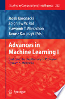 Advances in Machine Learning I Book