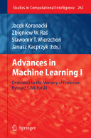 Advances in Machine Learning I