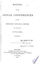 """General Minutes of the Annual Conferences of the United Methodist Church in the United States, Territories, and Cuba"" by Methodist Church (U.S.)"