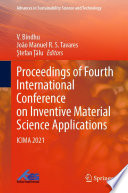 Proceedings of Fourth International Conference on Inventive Material Science Applications