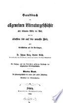 Literaturgeschichte der Neuen Zeit: Geschichte der Wissenschaften
