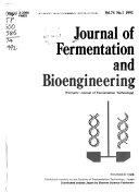 Journal of Fermentation and Bioengineering