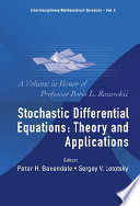 Stochastic Differential Equations  Theory and Applications Book PDF