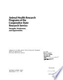 Animal Health Research Programs of the Cooperative State Research Service
