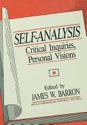 Self-Analysis Pdf/ePub eBook