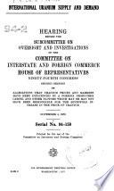 International Uranium Supply And Demand
