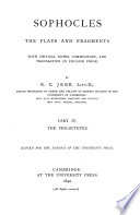 Sophocles  The Plays and Fragments