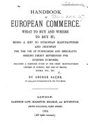 Handbook of European Commerce
