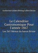 Pdf Le Calendrier Gastronomique Pour l'ann?e 1867 Telecharger