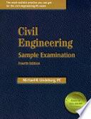 Civil Engineering Sample Examination