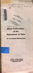 Major Publications of the Department of State