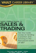 Vault Career Guide to Sales   Trading