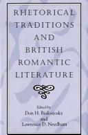Rhetorical Traditions and British Romantic Literature