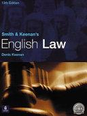 Smith   Keenan s English Law Book