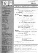 The NATS Bulletin