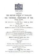The Laws of Ashanti  the British Sphere of Togoland  and the Northern Territories of the Gold Coast  The rules  orders  orders of the Sovereign in Council   c Book PDF