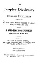 The People s Dictionary and Every day Encyclopedia